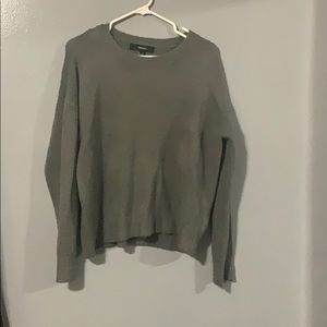 [ FOREVER 21 ] Gray knit crew neck sweater
